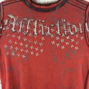 Affliction Men's L LS Reversible Crewneck Shirt